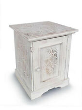 Cupboard,Cabinet,bedsisde table with Lotus carving.Hand carved.Shabby chic.