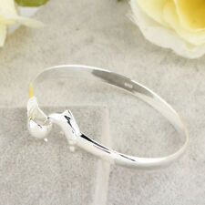 Wholesale European Fashion Jewelry Solid Silver Dolphin Clasp Bangle Bracelet KK