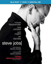 Steve Jobs (Blu-ray/DVD, 2016, 2-Disc Set) NEW