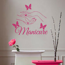 Wall Decals Beauty Hair Salon Nail Art Manicure Vinyl Sticker Home Decor ML104
