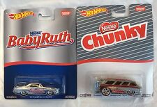 2016 Hot Wheels Pop Culture Nestle Baby Ruth Ford Falcon & Chunky Chevy 2 Cars