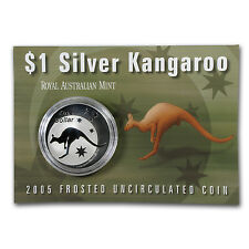 2005 1 oz Silver Australian Kangaroo Coin - Display Card - SKU #7079