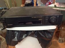 SONY HI FI STEREO VCR PLUS + VIDEO CASSETTE RECORDER SLV-750HF VHS PLEASE READ