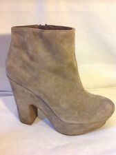 Office London Brown Ankle Suede Boots Size 38