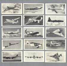 CIGARETTE/TRADE/CARDS.British Educational.MODERN AIRCRAFT(1953). (Full Set 50).
