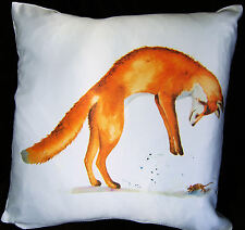 *FOX AND MOUSE* VIBRANT CUSHION COVER Designed by Artist Maria Moss 35cm x 35cm