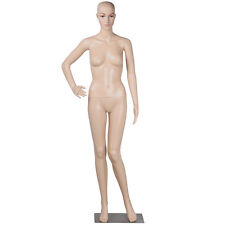 """68.9"""" Female Plastic Realistic Mannequin Shop Display with Base Head Turns"""