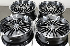 18 5x112 Rims Black Wheels Fits Mercedes Benz E500 Audi GTI Rabbit 5 Lug Wheels