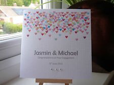 Modern Handmade Personalised Wedding Engagement Anniversary Card Confetti