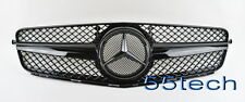 Mercedes 08~14 W204 C300 C350 C230 C200 Grille Grill 1 FIN 100% Glossy Black A3M
