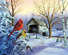 SNOWY HAVEN 1000pc Puzzle Scenic Holiday Cardinal Springbok