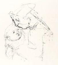 Hans theo juge-Mère et Enfant-Lithographie 1965/1971