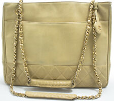 CHANEL Tasche Bag Shoulder Bag Shopper Schultertasche matelassé Beige Braun 255