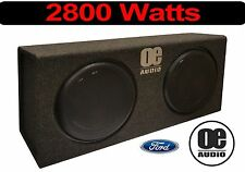 "Double 12""  Built in Amp 2800 Watts Slim Shallow Active Bassbox Convertible Ford"