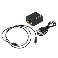 Digital Optical Coaxial Toslink Signal to Analog Audio Converter Adapter RCA GU