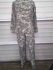 Top & Bottom Matching Set Genuine Issue ACU Army Uniform  Small Long SL EUC