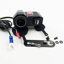 12V Car Motorcycle 2 USB Cigarette Lighter Power Outlet Plug Socket Charger Kit