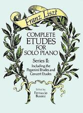 Dover Music for Piano: Complete Etudes for Solo Piano, Series II : Including...