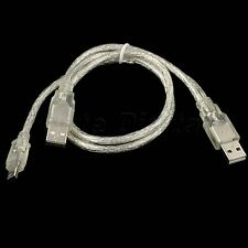 New 70cm CABLE USB 2.0 A male to mini B 5pin data Power Y Cable