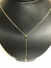 925 Sterling Silver Gold Tone Triangel Dangling Necklace