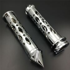 Kawasa Ninja 250 500 ZX6 ZX7 CHROME CNC 7/8'' Hand Grips with spike bar ends new