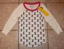 NWT Abercrombie Girls XL Size 16 Moose with Hat Scarf Mittens Sleep Top