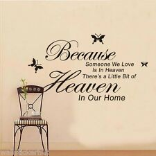 Because Someone We Love is in Heaven...Quote Wall Sticker