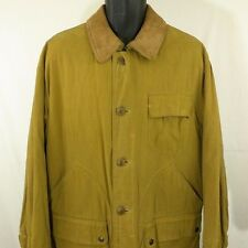 Henry Cottons Field Jacket Waxed Canvas Hunting Coat Camel Color Mens Sz 48 XL