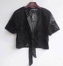 Sheer Bolero Shrug Jacket Top Coat 8-16 Wedding Retro Shawl Amice Women Elegant