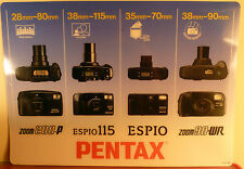 PENTAX Z1, Z10, Z20, ESPIO,CAMERA SYSTEMS: DEALER'S COUNTER DISPLAY MAT:NEW MINT