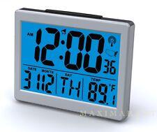 """Atomic Desk bedroom Alarm Clock-1.5"""" Time Number, Back Blue Light  Brand New"""