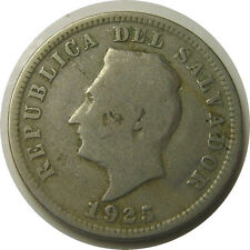 elf El Salvador 5 Centavos 1925 (S) San Francisco Mint