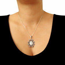 Taxco 925 Sterling Silver Virgin of Guadalupe Chain Necklace