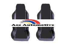 VW POLO BLUEMOTION (02-09) PREMIUM FABRIC SEAT COVERS WHITE PIPING 1+1
