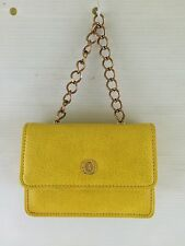 "LA TOUR EIFFEL Mustard Yellow Small Chain Strap 4"" HANDBAG Bag Purse"