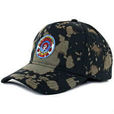 "DOPE ""Jones"" Snapback Hat (Black) Men's Grateful Dead Vintage Bleached Dad Cap"