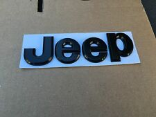 NEW JEEP BLACK 3M LETTERS HOOD I TRUNK TAILGATE I FENDER EMBLEM BADGE NAMEPLATE