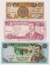 Five Central Bank of Iraq 5 to 1000 Dinars Banknotes--Excellent Condition !!