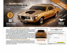 1970 FORD MUSTANG BOSS 429 FASTBACK   ~  NICE DIE-CAST CAR AD