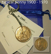 1948 Coin penny keyring 68th birthday gift with bag & tag 68 years old dd