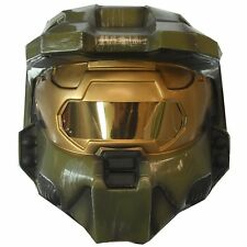 HALO MASTER CHIEF 2-PIECE HELMET MASK COSTUME VIDEO GAME TOY GREEN ADULT