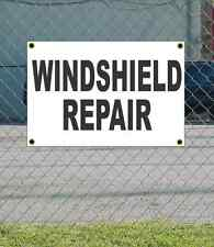 2x3 WINDSHIELD REPAIR Black & White Banner Sign Discount Size & Price FREE SHIP