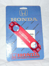 USDM B16 B18 VTEC SOHC DOHC Powered BY HONDA BATTERY TIE DOWN RED ALUMINUM