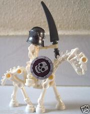 Lego Minifigure - Skeleton Warrior on Skeleton Horse fm 7092 Prison Carriage