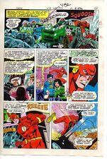 Vintage original 1979 DC Comics THE FLASH 279 color guide art page 23:1970's/JLA