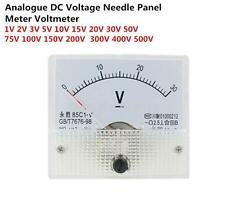 85C1 Analogue DC Voltage Needle Panel Meter Voltmeter 1V 2V 3V 5V 10V 15V 20V 30