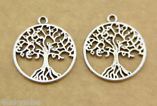 5Pcs trees of life (2) Wholesale Necklace Accessories Tibetan silver Products