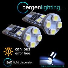 2x W5W T10 501 Errore Canbus libero BIANCO 8 LED Luce Laterale Lato Lampadine sl101603