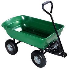 Giantex 650lb Garden Dump Cart Dumper Wagon Carrier Wheel Barrow Air Tires  Duty