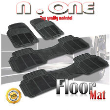 ALL SEASON BLACK FRONT/REAR RUBBER FLOOR MATS 4PCS DODGE GRAND CARAVAN 92-11 12